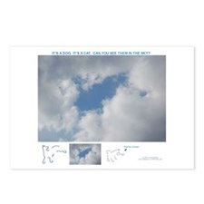 Sky Dog & Cat Postcards (Package of 8)