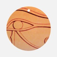 Left Eye Of Horus Ornament (Round)