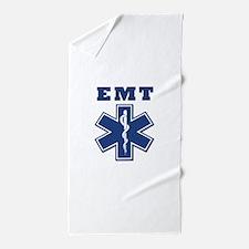 EMT Blue Star Of Life* Beach Towel