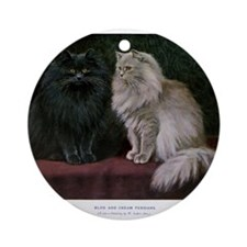 Gorgeous Black and White Persian Cats Ornament (Ro