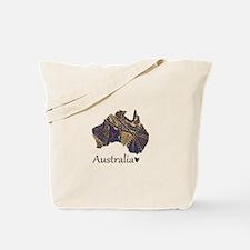 Australia Decorative Map Tote Bag