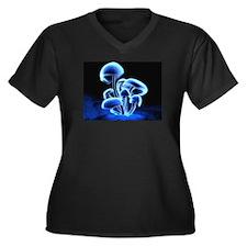 Neon Mushrooms Plus Size T-Shirt