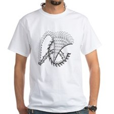 Black and White ChickenWheel Shirt
