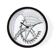 Black and White ChickenWheel Wall Clock