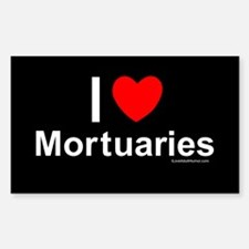 Mortuaries Sticker (Rectangle)