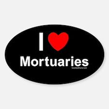 Mortuaries Sticker (Oval)