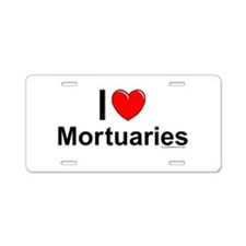 Mortuaries Aluminum License Plate