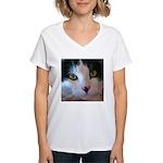 Cat Face Women's V-Neck T-Shirt