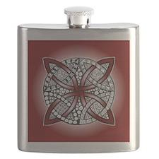 Red Celtic Knot Doodle Flask