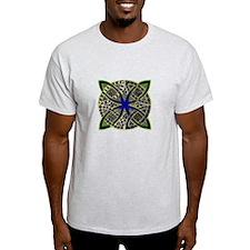 Green Gold Blue Celtic Knot Doodle T-Shirt