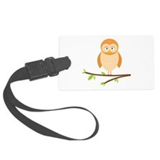 Branch Perched Owl Luggage Tag