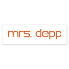 Mrs. Depp Bumper Bumper Sticker