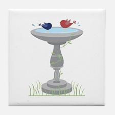 Bathing Birds Tile Coaster