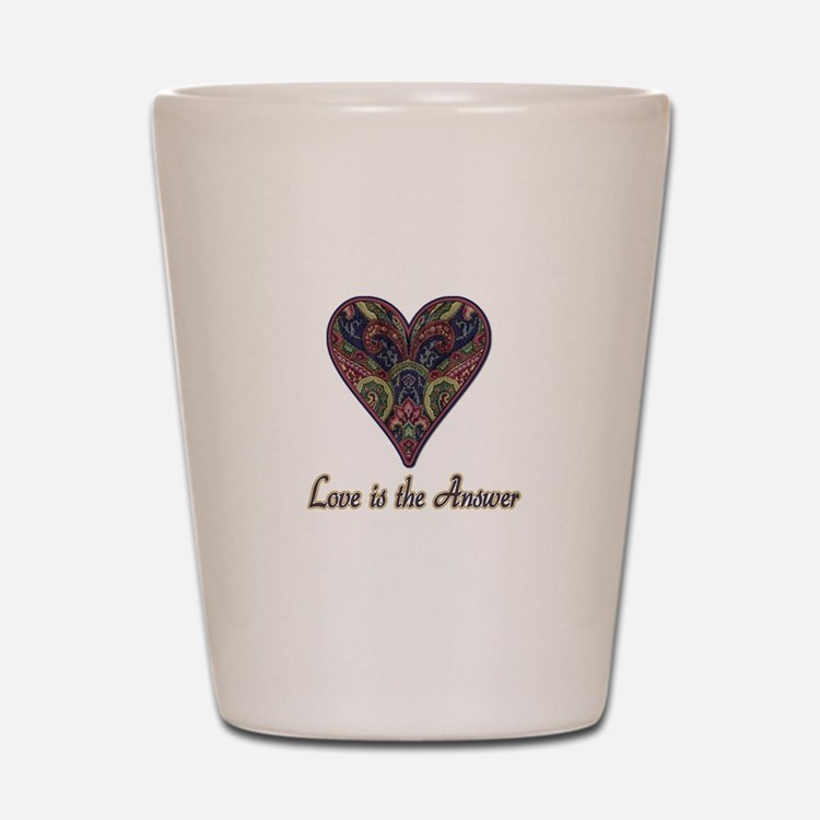 Love is the Answer Shot Glass