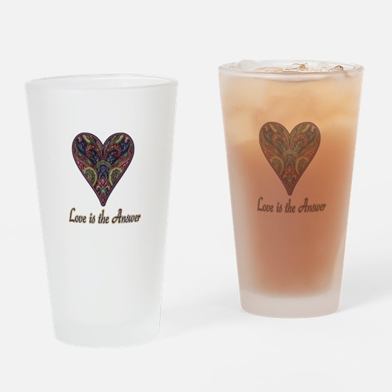Love is the Answer Drinking Glass