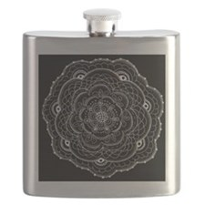 Lace doily ornamental flower drawing Flask