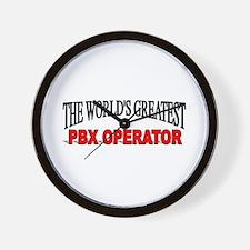 """The World's Greatest PBX Operator"" Wall Clock"