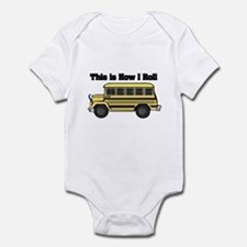 How I Roll (Short Yellow School Bus) Infant Bodysu