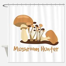 Mushroom Hunter Shower Curtain