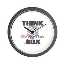 Chess: Think Out Of The Box Wall Clock