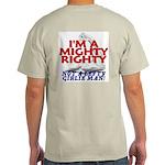NOT A LEFTY GIRLIE MAN! Ash Grey T-Shirt