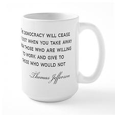Jefferson-Democracy-(white-shirt) Mugs