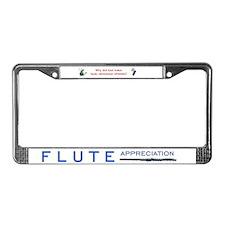 Flute License Plate Frame