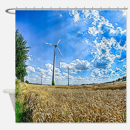 Clean Energy Shower Curtain