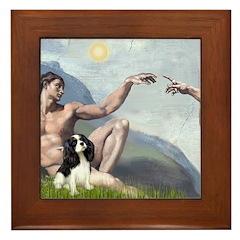 Creation and Tri Cavalier Framed Tile