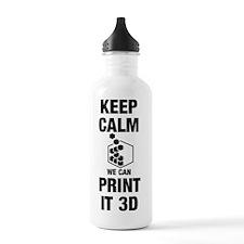 Keep Calm 3D Water Bottle