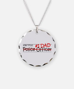 Job Dad Police Officer Necklace