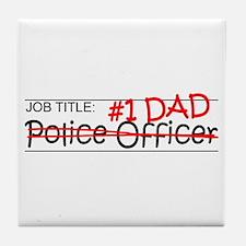 Job Dad Police Officer Tile Coaster