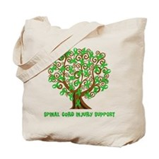 Spinal Cord Injury Support tree Tote Bag