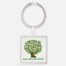 Spinal Cord Injury Support tree Keychains