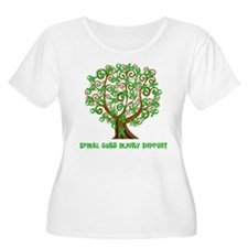 Spinal Cord Injury Support tree Plus Size T-Shirt