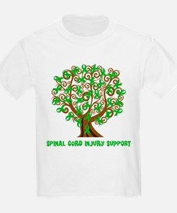 Spinal Cord Injury Support tree T-Shirt