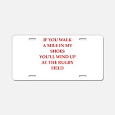 rugby Aluminum License Plate