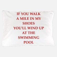water polo and swimming Pillow Case