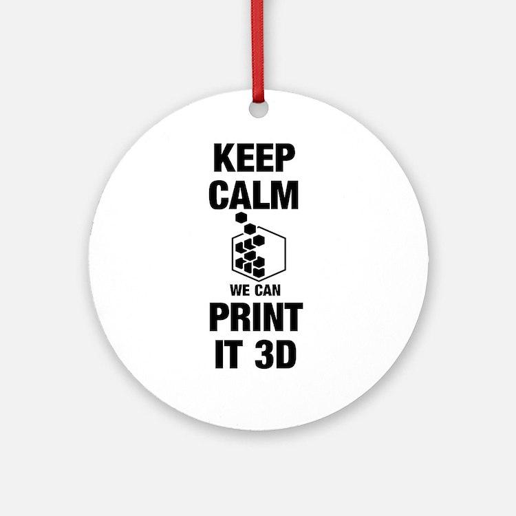 3d Printer (round) Round Ornament
