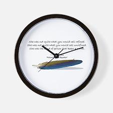 Mark Twain's parrot quote Wall Clock
