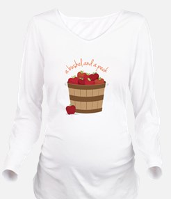 Bushel and a Peck Long Sleeve Maternity T-Shirt