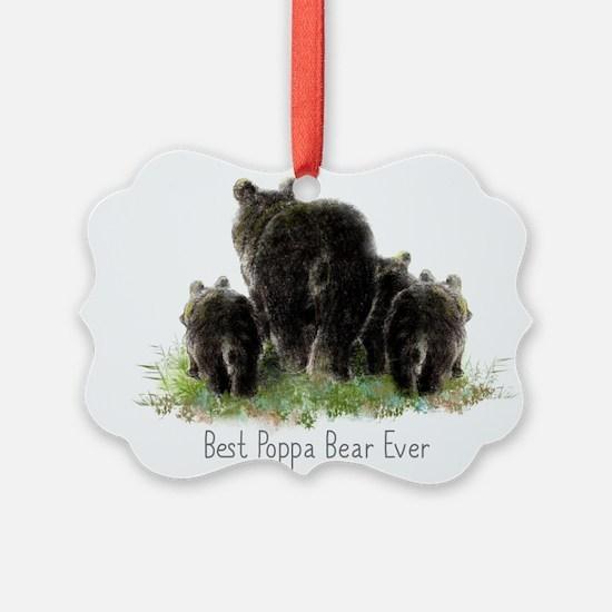 Best Poppa Bear Fun Dad Quote Black Bear Art Pictu