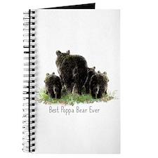 Best Poppa Bear Fun Dad Quote Black Bear Art Journ