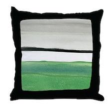 green & black abstract Throw Pillow