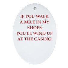 casino Ornament (Oval)