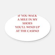 casino Oval Car Magnet