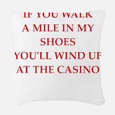 casino Woven Throw Pillow
