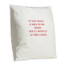 casino Burlap Throw Pillow