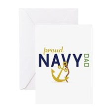 Proud Navy Dad Greeting Cards