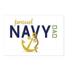 Proud Navy Dad Postcards (Package of 8)